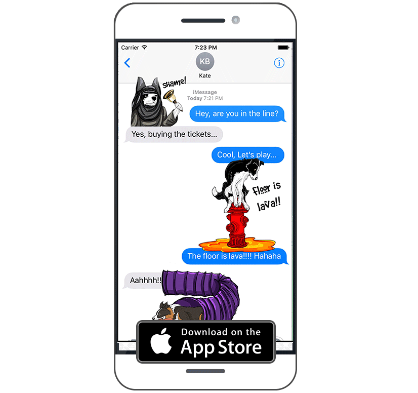 Border Collie App for iOS and Android phone | CollieMoji