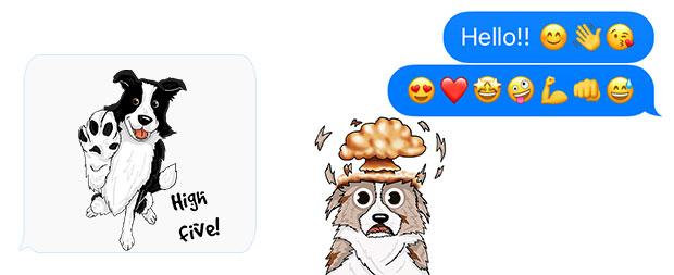 emoji size colliemoji text unicode