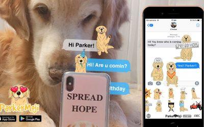 ParkerMoji, the emoji app for Golden Retriever lovers